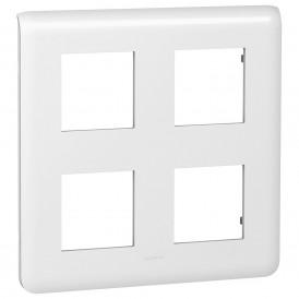 Рамка 2х2х2 модуля Legrand Mosaic 078838 белая