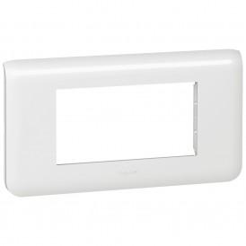 Рамка 4 модуля горизонтальная Legrand Mosaic 078814 белая