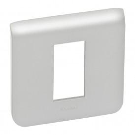 Рамка пластиковая Mosaic 1 модуль 1 пост Алюминий | 079311 | Legrand