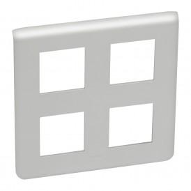 Рамка 2х2х2 модуля Legrand Mosaic 079338 алюминий