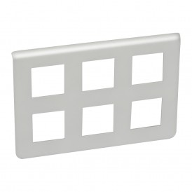 Рамка пластиковая Mosaic 2х3х2 модуля Алюминий | 079332 | Legrand