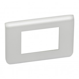 Рамка 3 модуля Legrand Mosaic 079303 алюминий