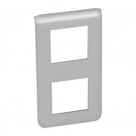 Рамка 2х2 модуля вертикальная Legrand Mosaic 079322 алюминий