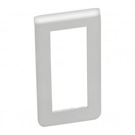 Рамка пластиковая вертикальная Mosaic 5 модулей Алюминий | 079325 | Legrand