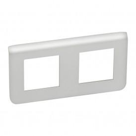 Рамка 2х2 модуля горизонтальная Legrand Mosaic 079304 алюминий