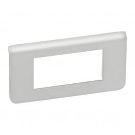 Рамка 4 модуля горизонтальная Legrand Mosaic 079314 алюминий