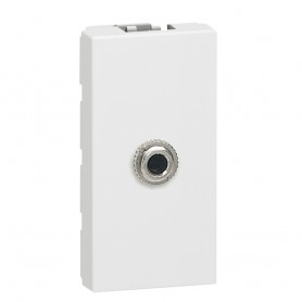Розетка 3,5 мм для пайки - Программа Mosaic - 1 модуль - белый | 078773 | Legrand