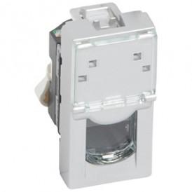 Розетка RJ45 FTP кат.5е 1 модуль Legrand Mosaic 079452 алюминий