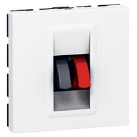 Розетка для колонки 2 модуля Legrand Mosaic 078751 белая