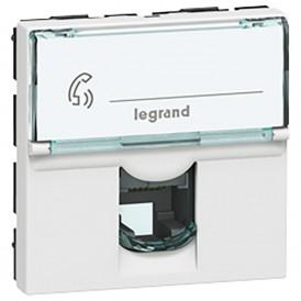 Розетка телефонная RNIS Numeris - Программа Mosaic - 8 контактов - 2 модуля - белая | 078734 | Legrand