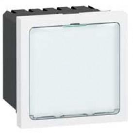 Световое табло с подсветкой белыми светодиодами - Программа Mosaic - 2 модуля - белое | 078520 | Legrand