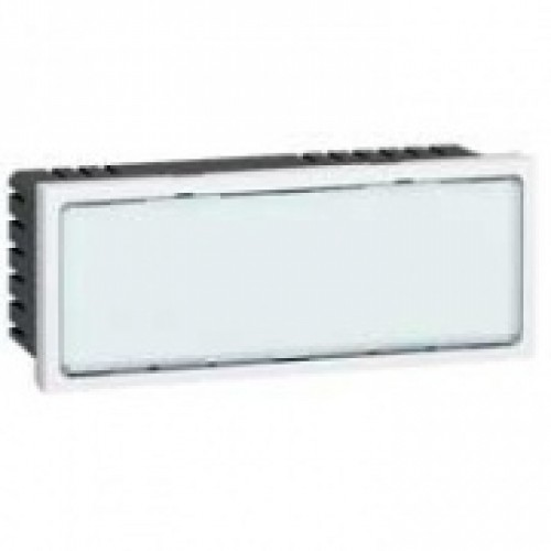 Световое табло с подсветкой белыми светодиодами - Программа Mosaic - 5 модулей - белое | 078522 | Legrand