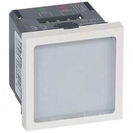 Световое табло с подсветкой зелеными или красными светодиодами - Программа Mosaic - 5 модулей - белое | 078524 | Legrand
