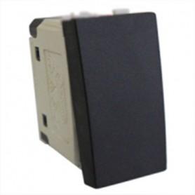 Выключатель 45х22,5 мм (схема 1) 16 A, 250 B (черный бархат) LK45 | 850108 | Экопласт