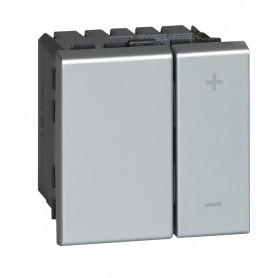 Светорегулятор ECO - Программа Mosaic - 2 модуля - без нейтрали - 2-проводной - 400 Вт - алюминий | 079207 | Legrand