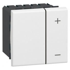 Светорегулятор клавишный 3-400Вт Legrand Mosaic 078407 белый