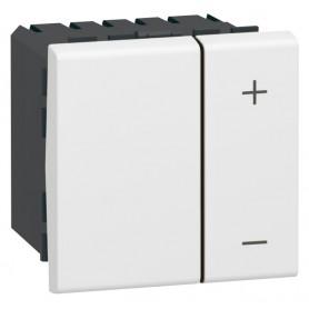 Светорегулятор ECO - Программа Mosaic - 2 модуля - без нейтрали - 2-проводной - 400 Вт - белый | 078407 | Legrand