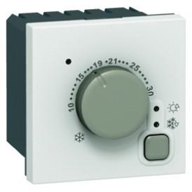 Термостат электронный 5-30°C Legrand Mosaic 076720 белый