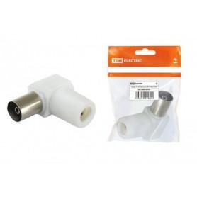 Гнездо TV антенное угл. белое без пайки, инд. упаковка  | SQ1809-0016 | TDM