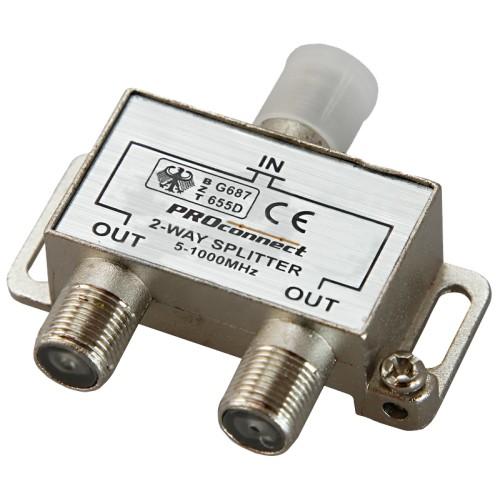 ДЕЛИТЕЛЬ  ТВ  х 2 под F разъём  5-900 МГц | 05-6031 | PROconnect