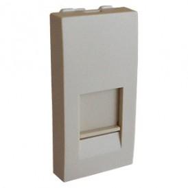 Накладка для розетки телефонной, компьютерной RJ,  45х22,5 мм (бежевый) LK45 |853101| Экопласт