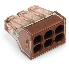 Клемма 6-проводная 1.5 - 4.0мм2 (уп/50шт) | 773-606 | WAGO