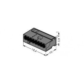 Клемма МИКРО 8-проводная темно-серый D 0,6 - 0,8 мм (уп/50шт) | 243-208 | WAGO