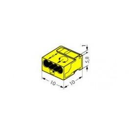 Клемма МИКРО. 4-проводная 0.6-0.8мм2 желтая (уп/100шт) | 243-504 | WAGO