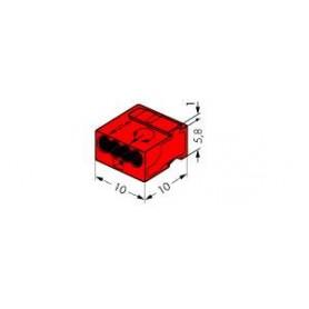Клемма МИКРО. 4-проводная 0.6-0.8мм2 красная (уп/100шт) | 243-804 | WAGO