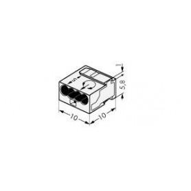 Клемма МИКРО. 4-проводная 0.6-0.8мм2 прозрачная (уп/100шт) | 243-144 | WAGO