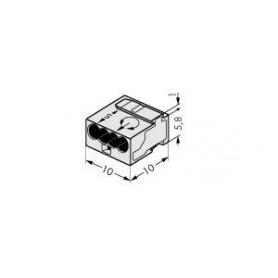 Клемма МИКРО. 4-проводная 0.6-0.8мм2 светло-серая (уп/100шт) | 243-304 | WAGO