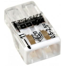 Клемма с пастой 2-проводная 0.5-2.5мм2 одножильный белый (уп/100шт) | 2273-242 | WAGO