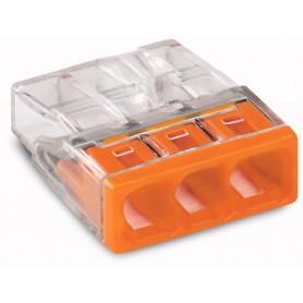 Клемма с пастой 3-проводная 0.5-2.5мм2 одножильный оранжевый (уп/100шт) | 2273-243 | WAGO