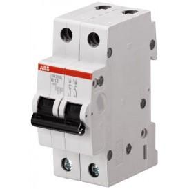 Выключатель автоматический двухполюсный SH202L 10А B 4,5кА (SH202L B10) | 2CDS242001R0105 | ABB