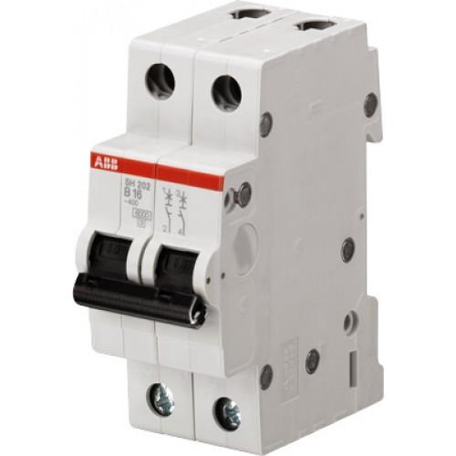 Автомат ABB 25А двухполюсный SH202L C25 4,5кА