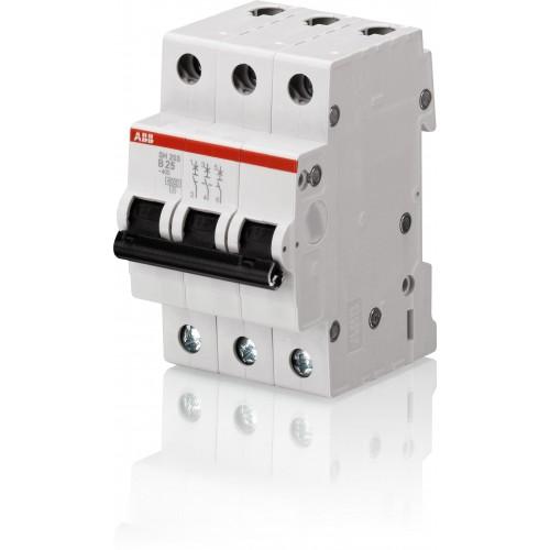 Автомат ABB 16А трехполюсный SH203L C16 4,5кА