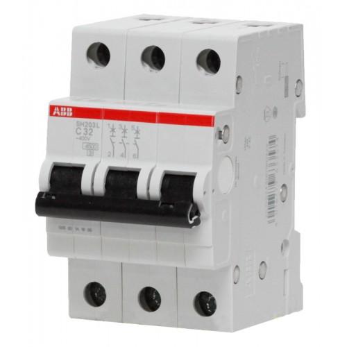 Автомат ABB 63А трехполюсный SH203L C63 4,5кА