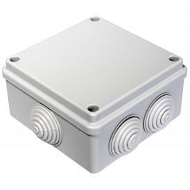 Коробка распаячная 100х100х50 безгалогенная HF , 6 вводов IP55 Промрукав 40-0300