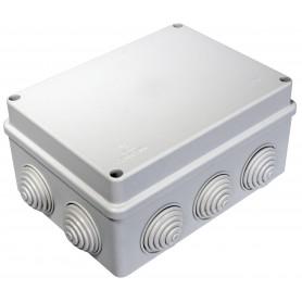 Коробка распаячная 150х110х70 безгалогенная HF, 10 вводов IP55 Промрукав 40-0310