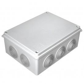 Коробка распаячная 200х150х75 безгалогенная HF, IP 55 10 вводов Промрукав 40-0320