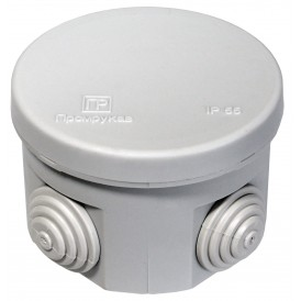 Коробка распаячная 70х50,  IP55 4 ввода Промрукав 40-0110