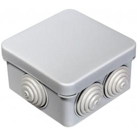 Коробка распаячная 70х70х40 , IP55 6 вводов Промрукав 40-0200