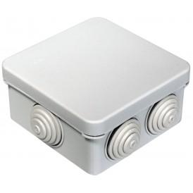 Коробка распаячная 80х80х40,  IP55 7 вводов Промрукав 40-0210