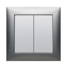 Выключатель 2-кл.  (схема 5) 16 A, 250 B (серебристый металлик) LK60 | 861101 | Экопласт