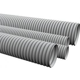 Труба HFFRLS гофрир. легкая, с зондом, без галогена, низкое дымовыделение,  трудногорючая, цвет серый, диам 40 мм