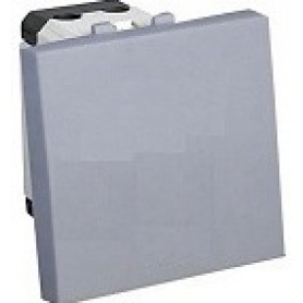 Выключатель 45х45 мм (схема 1) 16 A, 250 B (серебристый металлик) LK45   850703   Экопласт