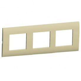 Рамка 3-постовая (бежевый) LK45 | 854301| Экопласт