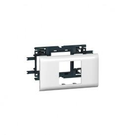 Legrand 010952 Рамка с суппортом  на 2 модуля , 65мм