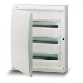 UNIBOX бокс настенный 12М непрозр.дверь белый (с клемм)