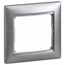 770331 Рамка 1 пост, алюминий матовый, Valena